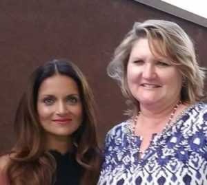 Dr. Shefali Tsabary and Laura Lyles Reagan at Evolve